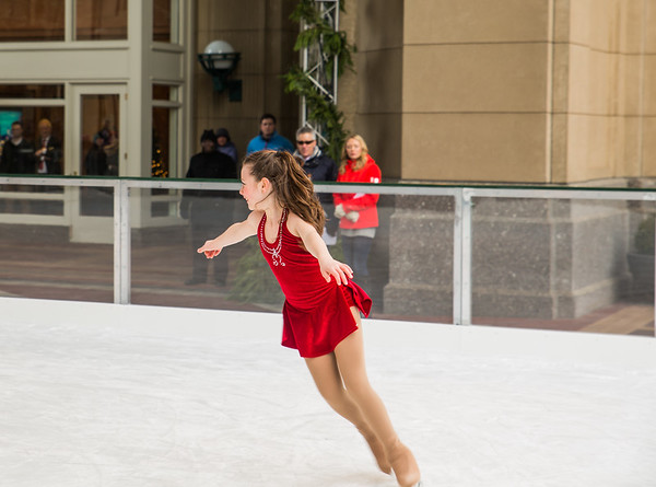 A skater from the Skating Club of Boston performs