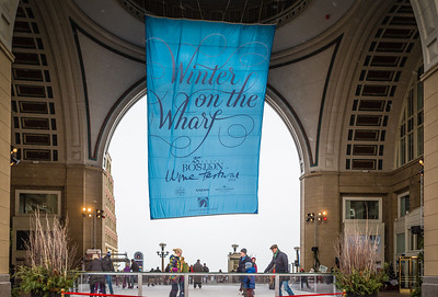 Winter on the Wharf at the Rowes Wharf Rotunda Rink