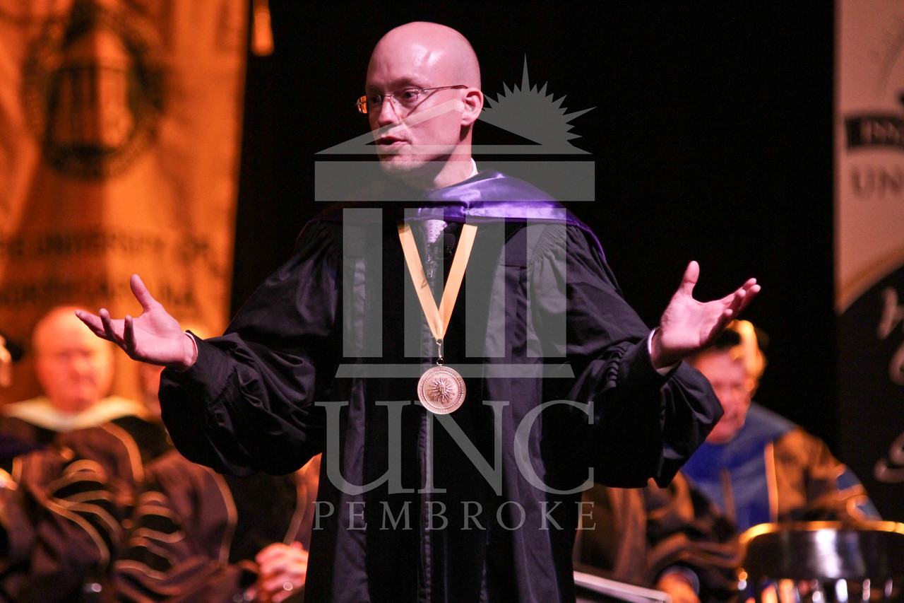 Keynote speaker Dr. Joseph Lakatos  speaks at the UNCP spring Graduate commencement on Friday, May 4th, 2012..  spring_grad_0302.jpg