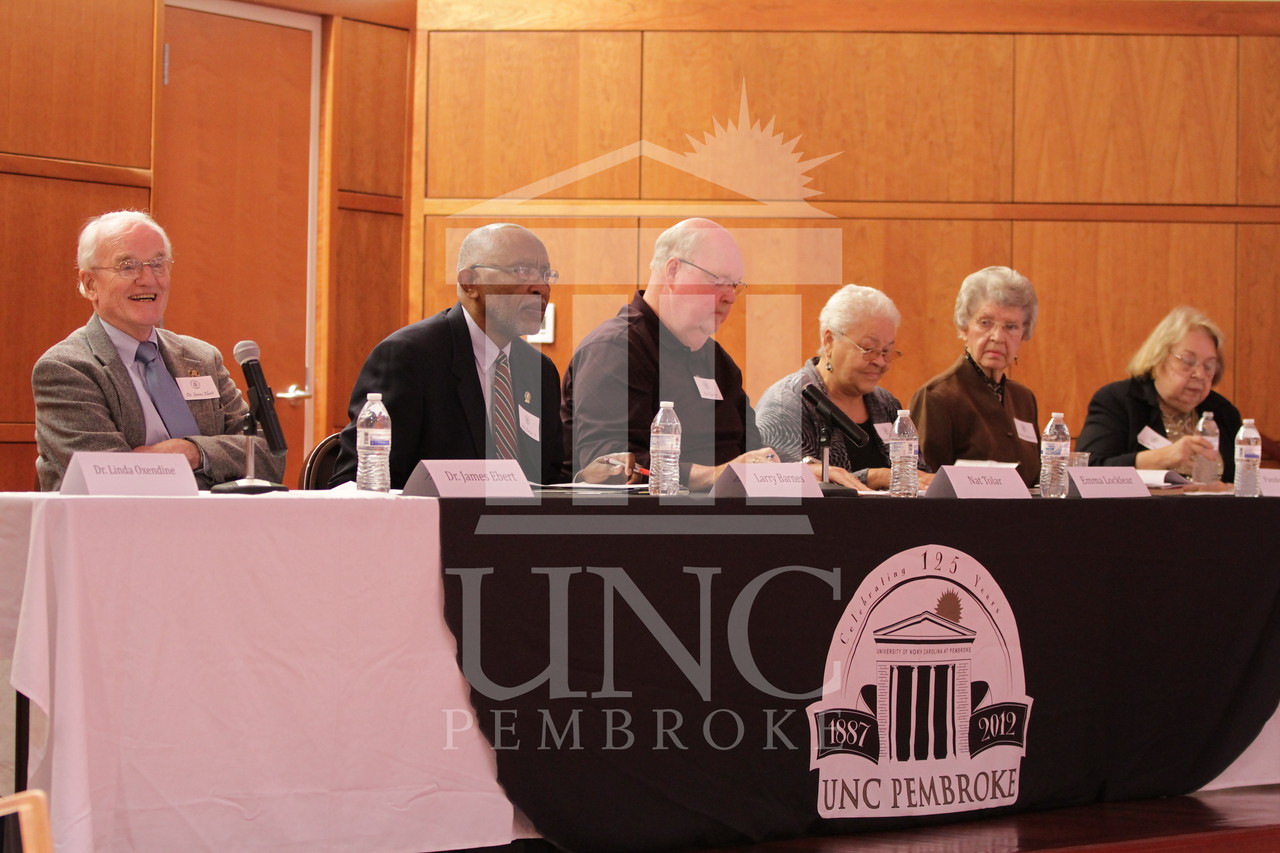 "UNCP celebrates their 125th Anniversary with the ""Reflections"" panel of professors and alumni on Monday,  October 22nd, 2012.reflections_0226.jpg"