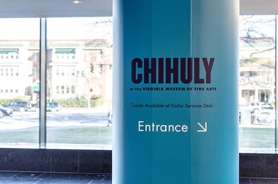 Entrance to the Chihuly exhibit at the VMFA