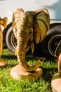 State Fair - Elephant Chainsaw Carving
