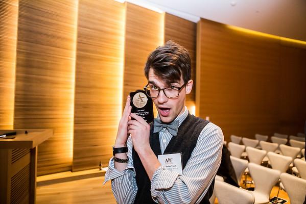 Nicholas Tisch recieves Student Judges' Choice: Creative Use of Media.