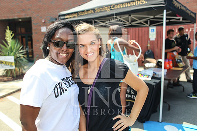 UNCP welcomes freshmen with a Block Party on Tuesday, August 13th, 2013. block_party_0045.JPG
