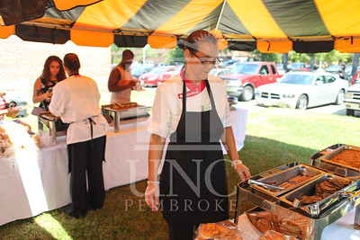 UNCP welcomes freshmen with a Block Party on Tuesday, August 13th, 2013. block_party_0107.JPG