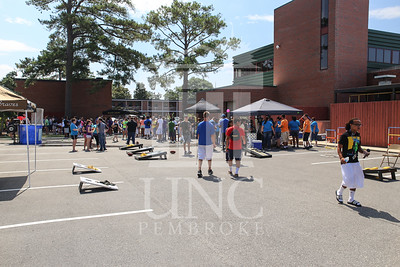 UNCP welcomes freshmen with a Block Party on Tuesday, August 13th, 2013. block_party_0026.JPG