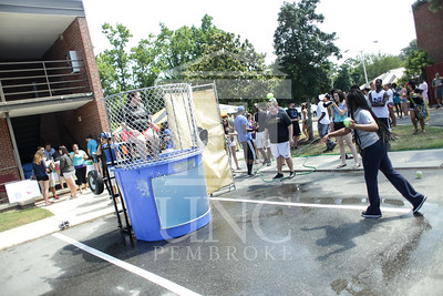 UNCP welcomes freshmen with a Block Party on Tuesday, August 13th, 2013. block_party_0015.JPG