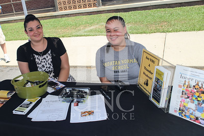 UNCP welcomes freshmen with a Block Party on Tuesday, August 13th, 2013. block_party_0025.JPG