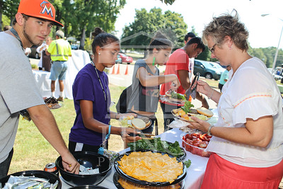 UNCP welcomes freshmen with a Block Party on Tuesday, August 13th, 2013. block_party_0108.JPG