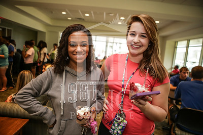UNCP celebrates with an Ice Cream Social in Cypress Hall on Friday, August 16th 2013. ice_cream_Cypress_0016.JPG
