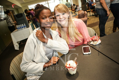 UNCP celebrates with an Ice Cream Social in Cypress Hall on Friday, August 16th 2013. ice_cream_Cypress_0003.JPG