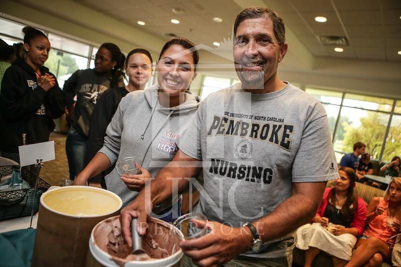 UNCP celebrates with an Ice Cream Social in Cypress Hall on Friday, August 16th 2013. ice_cream_Cypress_0011.JPG