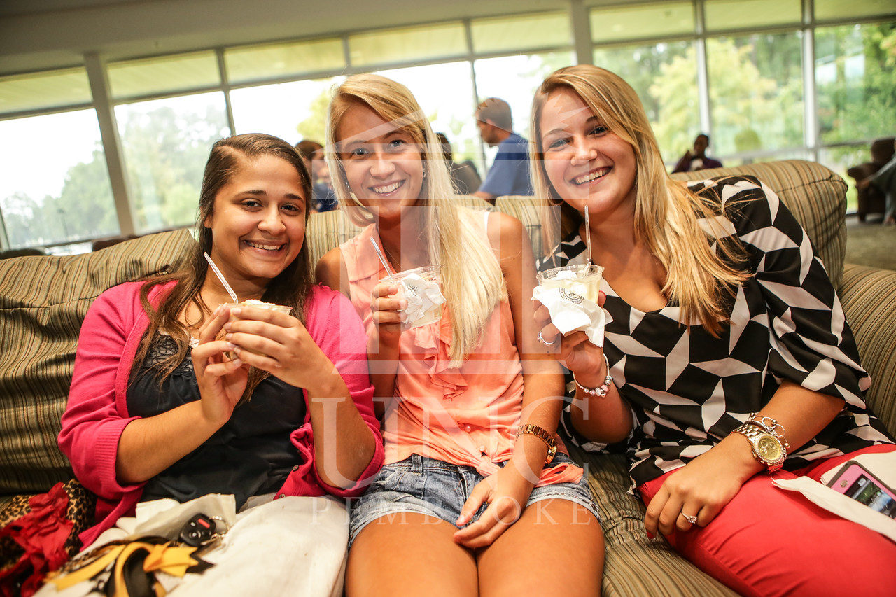 UNCP celebrates with an Ice Cream Social in Cypress Hall on Friday, August 16th 2013. ice_cream_Cypress_0008.JPG