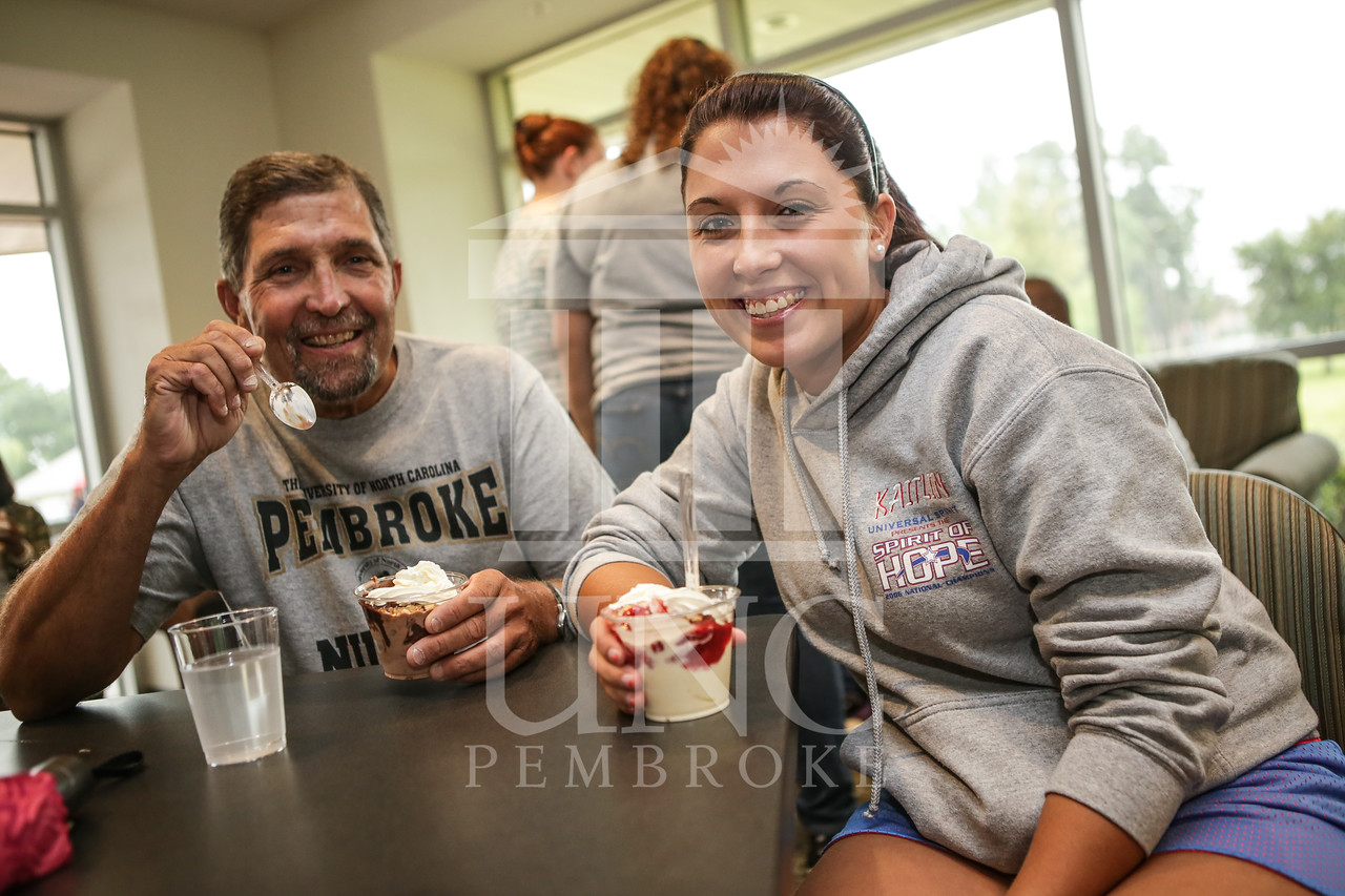 UNCP celebrates with an Ice Cream Social in Cypress Hall on Friday, August 16th 2013. ice_cream_Cypress_0013.JPG
