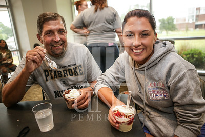 UNCP celebrates with an Ice Cream Social in Cypress Hall on Friday, August 16th 2013. ice_cream_Cypress_0014.JPG