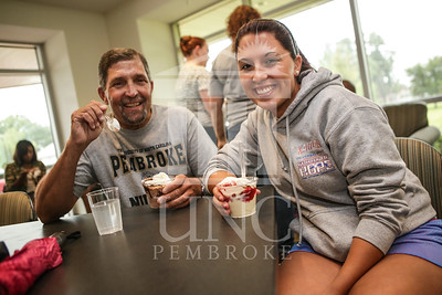 UNCP celebrates with an Ice Cream Social in Cypress Hall on Friday, August 16th 2013. ice_cream_Cypress_0012.JPG