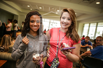 UNCP celebrates with an Ice Cream Social in Cypress Hall on Friday, August 16th 2013. ice_cream_Cypress_0015.JPG