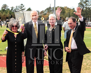 Dick and Lenore Taylor Track Ribbon Cutting