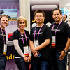 Our 4D staff manning the booth at Fluent. Me, Erin, Xiang, Tom, and Dave.