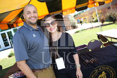 UNCP celebrates Homecoming at the Football game Vs. Tusculum on Saturday, November 2nd, 2013. homecoming_tailgating_0024.JPG