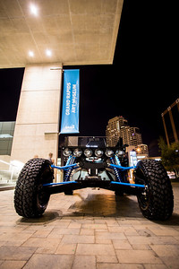 Ruiter's Reboot Buggy parked in front of the GRAM.