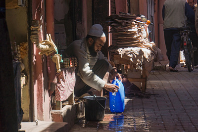 Exploring the medina of Marrakesh