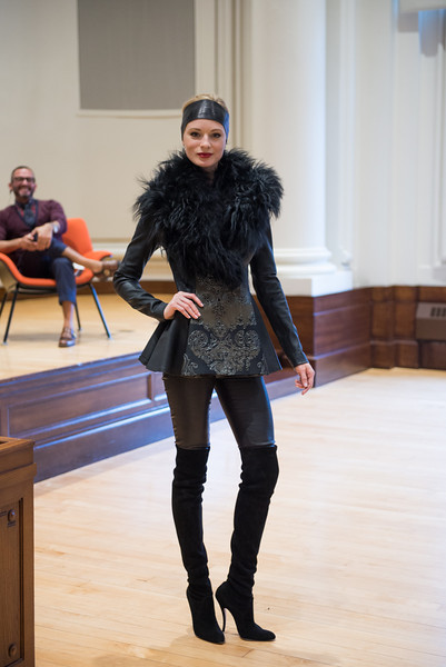 Valeriya, a model from New York City, shows off designs of Pamella Roland Devos.  Photography by Claire Lea.