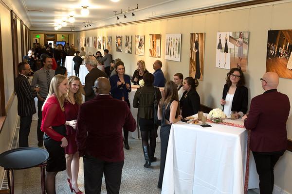 Reception in KCAD's Fashions Studies floor.