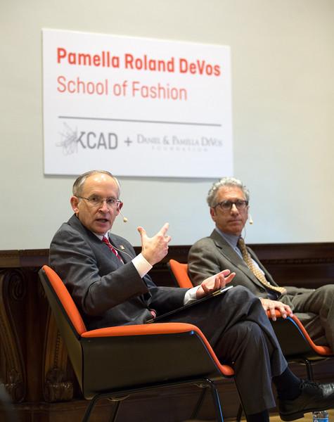 (left to right) Dr. David Eisler (Ferris President), Dr. David Rosen (KCAD President),