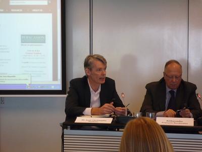 Mr Jean-Christophe Nothias, Ambassador Francois Nordmann