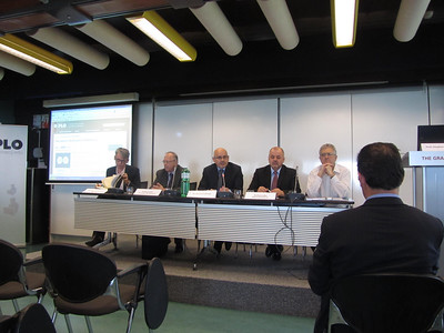 Mr Jean-Christophe Nothias, Ambassador Francois Nordmann, Dr Jovan Kurbalija, Amb. Petru Dumitriu, Dr Aldo Matteucci