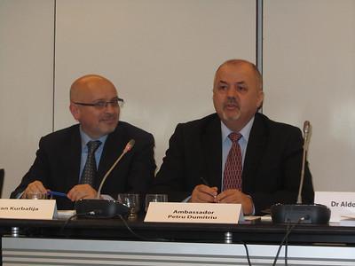 Dr. Jovan Kurbalija, Amb. Petru Dumitriu