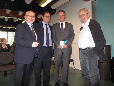 Dr Jovan Kurbalija, Prof. Stephen Calleya, Dr Aldo Matteucci