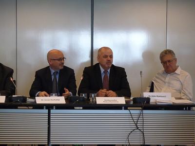 Dr Jovan Kurbalija, Amb. Petru Dumitriu, Dr Aldo Matteucci