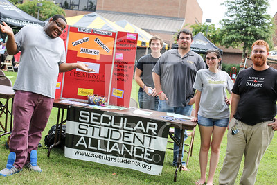 UNCP holds a student involvement fair on Wednesday, August 28th, 2013. student_involvement_fair_0013.JPG