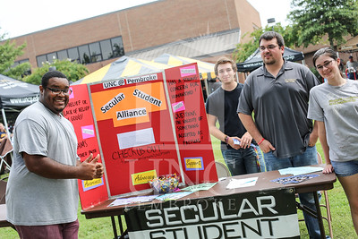 UNCP holds a student involvement fair on Wednesday, August 28th, 2013. student_involvement_fair_0012.JPG