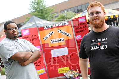 UNCP holds a student involvement fair on Wednesday, August 28th, 2013. student_involvement_fair_0014.JPG
