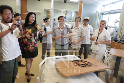 International Faculty visits UNCP and tours the new Allied Health Building. print_visiting_professors_0025.jpg