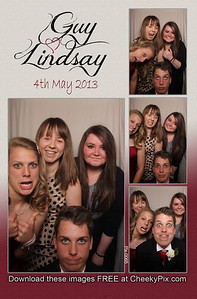 Lindsay & Guy's photo booth images