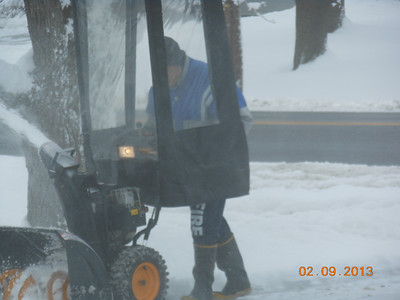 I'm Snow blowing Feb. Snowstorm (my house)