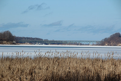 Irondequoit Bay Bridge, Rochester, NY with out lens filter.