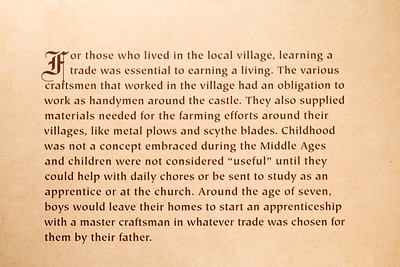 Childhood was not a concept embraced during the Middle Ages
