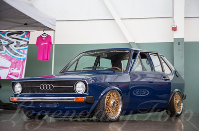 Blue Audi 50 at WaterWerks 2014