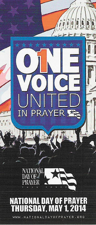 The National Day of Prayer was created in 1952 by a joint resolution of Congress, and signed into law by President Harry S. Truman. On May 8, 1988, President Ronald Reagan signed into law the designation of the first Thursday in May as the annual observance for the day. — Dan Irwin