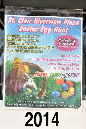 2014 Easter Bunny Egg Hunt in the Plaza, St. Clair, MI