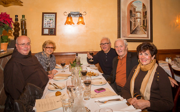 Fr. Antonio Nardoianni of St. Leonard Church joins Marie Agrippino, Carol Fabiano and Friends