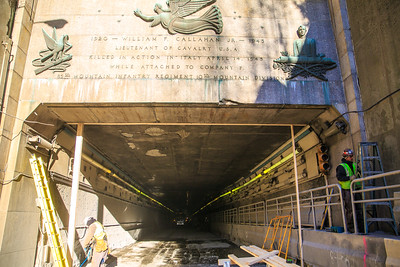 Entrance of the Callahan Tunnel under construction