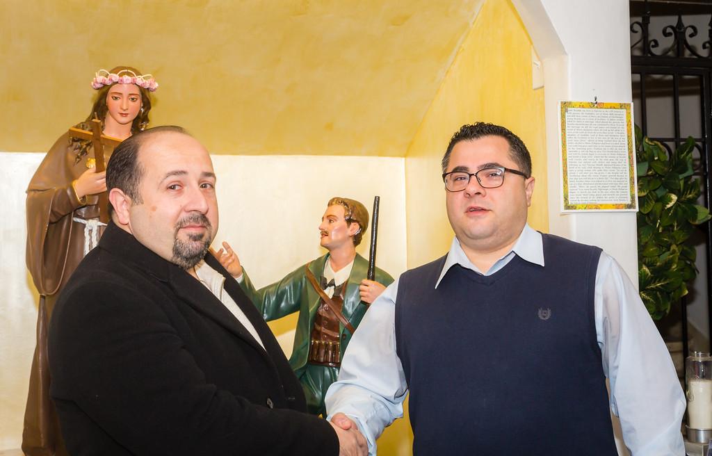President Danny Puccio and Treasurer Lorenzo Puccio of Santa Rosalia di Palermo Society