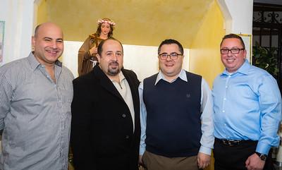 2014 Officers of Santa Rosalia di Palermo Society, (L-R) Sec. Tony Puccio, Treas. Lorenzo Puccio, Pres. Danny Puccio and VP Guy Zanelli