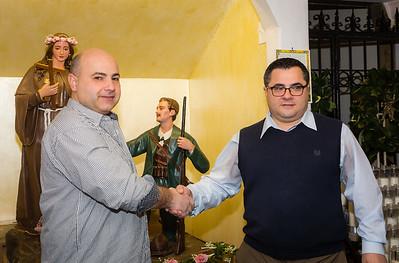 President Danny Puccio and Secretary Anthony Puccio of Santa Rosalia di Palermo Society